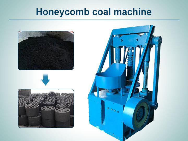 Cover-honeycomb coal making machine