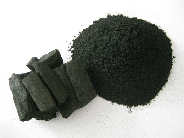 charcoal or coal briquettes crushing