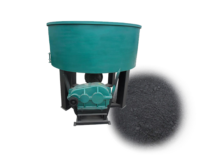 charcoal powder grinder and mixer