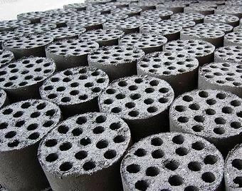 honeycomb coal briquettes made by coal briquette machine