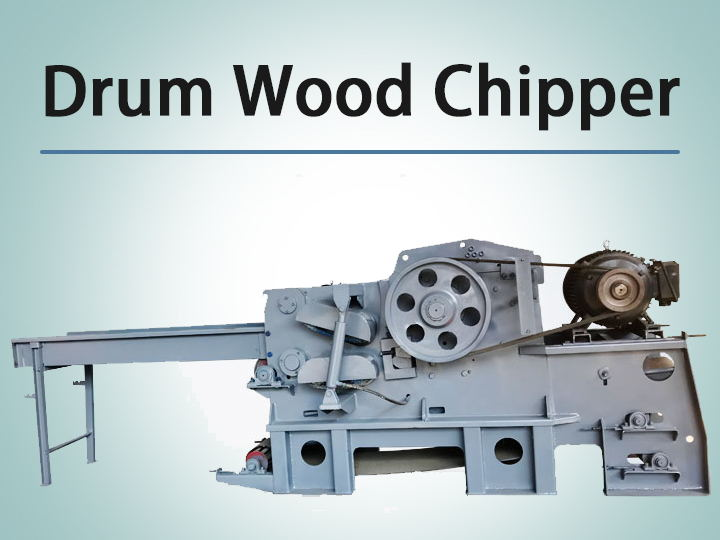 Cover drum wood chipper
