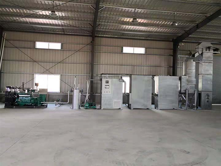 Biomass syngas power plant