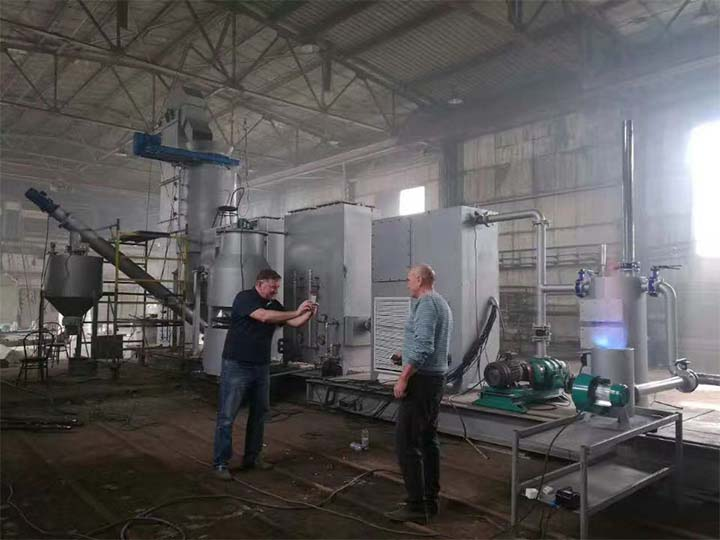 Our customers are discussing biomass gasification
