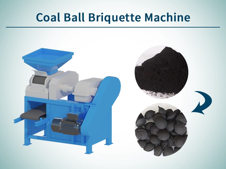 Coal ball briquette machine
