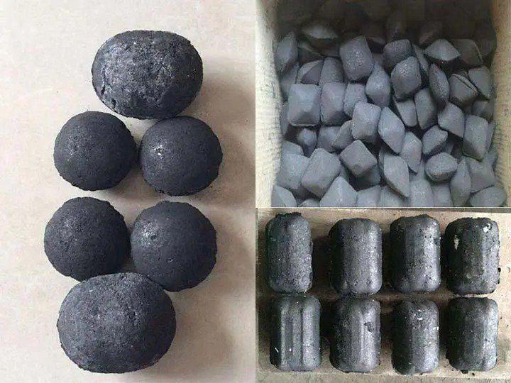 Coal ball of various shapes