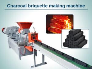 Charcoal briquette making machine