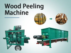 Cover-wood peeling machine