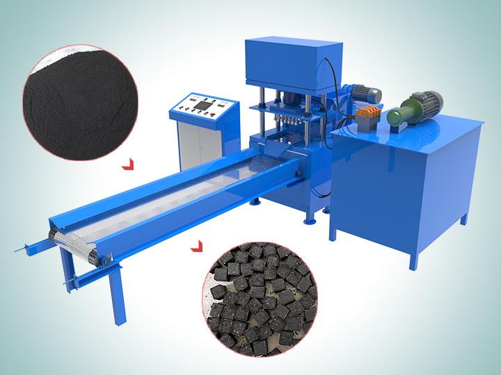 Hydraulic hookah charcoal briquetting machine